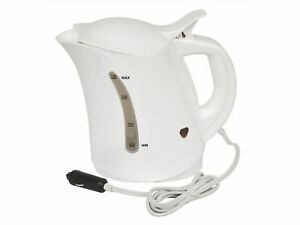 Car-Travel-Kettle-Camping-Water-Kettle-12v-Cigarette-Lighter-Powered-White