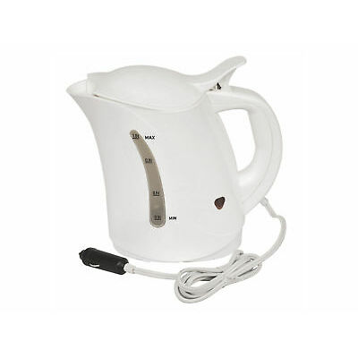 Car Travel Kettle Camping Water Kettle 12v Cigarette Lighter Powered White