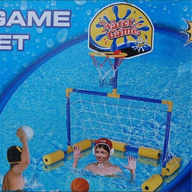 Swimming Pool Football Basketball Toys Outdoor 2 in 1 Kids Set Water Game