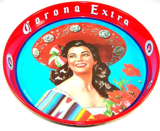 Genuine new Corona Extra retro drinks beer tray Mexican kitsch decor bar gear