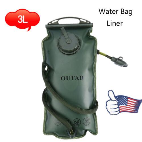 3L Water Bladder Bag Backpack Hydration System Survival Pack Hiking Camping Eg