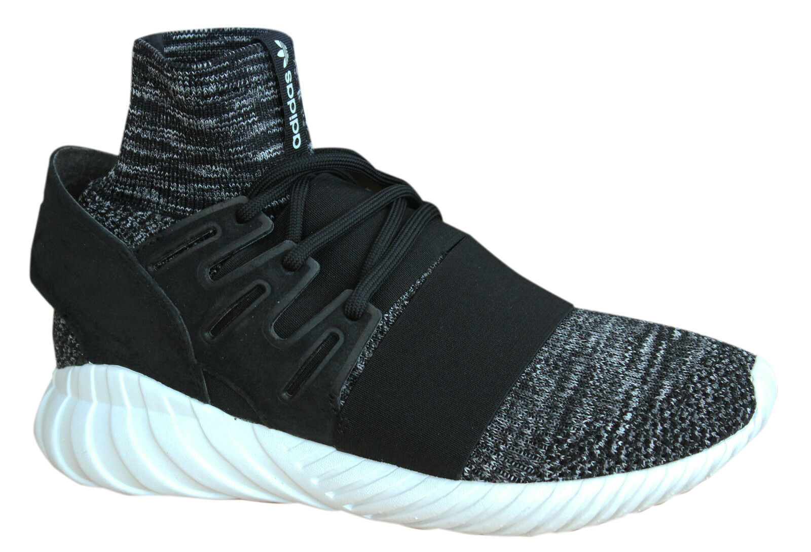 Adidas Tubular Doom PK Lace Up Black Sock Fit Mens Trainers BB2392 Opp M9