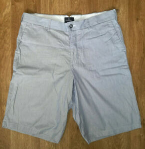 M-amp-S-Marks-and-Spencer-Blue-Harbour-MENs-Cargo-Chinos-Striped-Shorts-Blue-Size-36