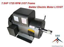 L1510T 7.5 HP, 1725 RPM New BALDOR ELECTRIC MOTOR Air Compressor