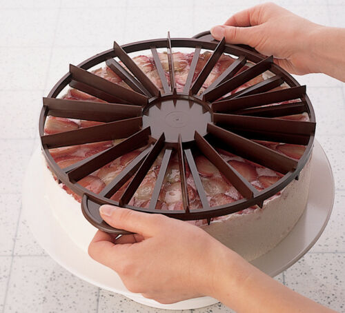 Cake Marker Each Side a Different # of Portions Double Sided Plastic