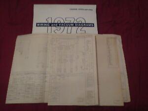 1972 Ford Bronco Wiring Diagrams Schematics Manual Sheets Set Ebay