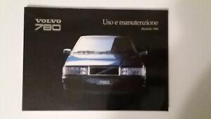 Manuale Uso Manutenzione Volvo 780 Turbo Originale