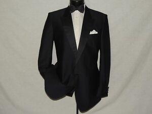 1 Bouton Revers Homme Brillant Habillé Slim Smoking Veste Manteau 42 Long