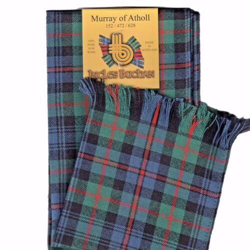 Écharpe Clan Murray de situé Tartan Écossais Laine Plaid