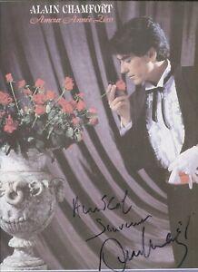 Autographe dédicace ORIGINAL du Chanteur ALAIN CHAMFORT sur Pochette LP 33T 1981