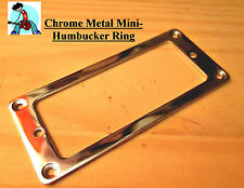 Mini Humbucker Pickup Rings Chrome (set of two) FLAT
