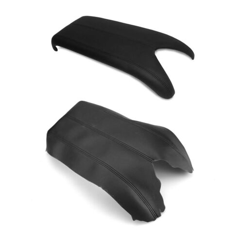 New Leather Black Center Console Lid Armrest Cover For Acura 2007-2012 RDX
