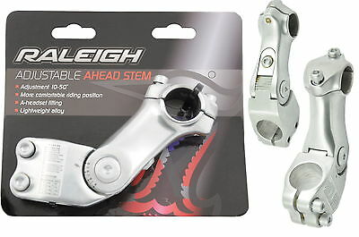 "RALEIGH AHEAD ADJUSTABLE RAKE STEM POLISHED Alloy 1 1/8"" 100mm GNJ123"