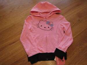 Hello-Kitty-girls-hoodie-jacket-hoody-NEW-youth-HK54092-pink-4-NWT-32-00