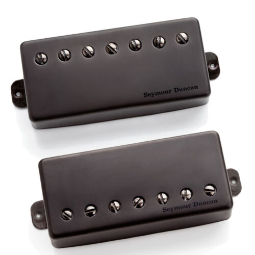 Seymour Duncan Nazgul /& Sentient 7 String Humbucker Set w// Black Metal Covers