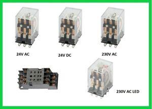 Relais 3xUM 5A 11PIN  24V AC, 24V DC, 230V AC, 230V AC LED, Hutschienen
