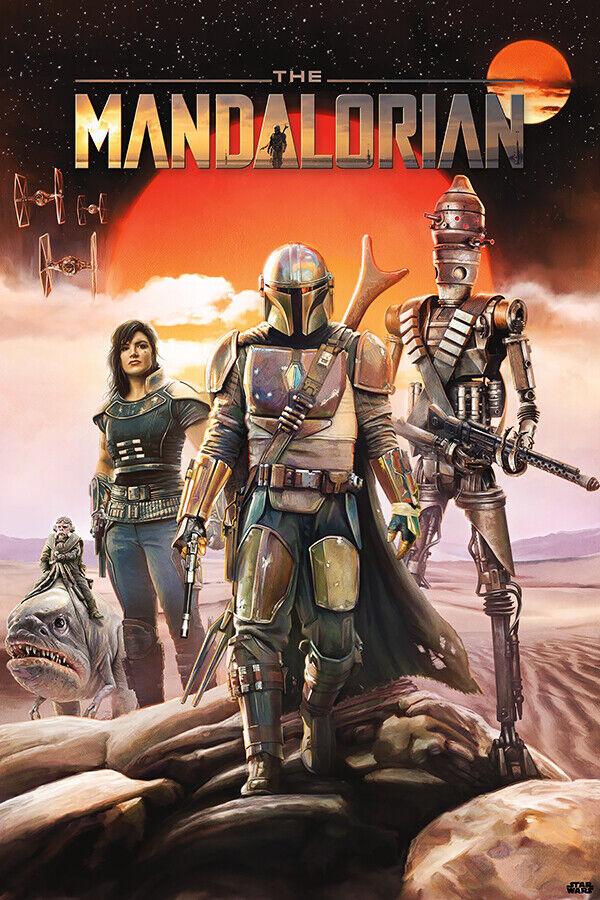 """The Mandalorian Poster 32x48/"""" 24x36/"""" TV Series Star Wars 2020 Print Silk"""