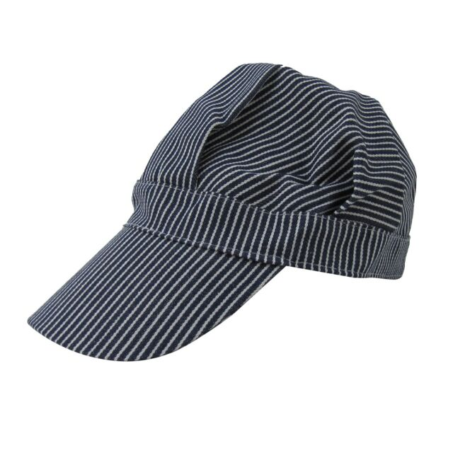 ADULT BLACK CONDUCTOR HAT TRAIN MAN OPERATOR GENDARME FRENCH POLICE COSTUME CAP