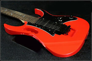 Red-Professional-High-Grade-Alder-Wood-24-Frets-Double-Wave-Electric-Guitar