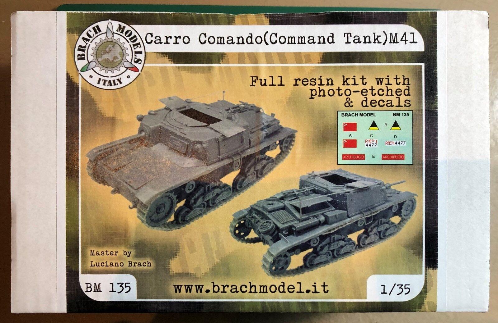 BRACH  MODEL BM-135 - COMhommeD TANK M41 - 1 35 RESIN KIT  qualité authentique