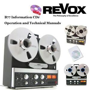 Revox-b77-Grabadora-carrete-a-carrete-Manual-de-servicio-de-instrucciones-de-operacion-Cdr