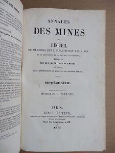 Annales-des-mines-1875-2-beaux-volumes-relies-avec-leurs-planches