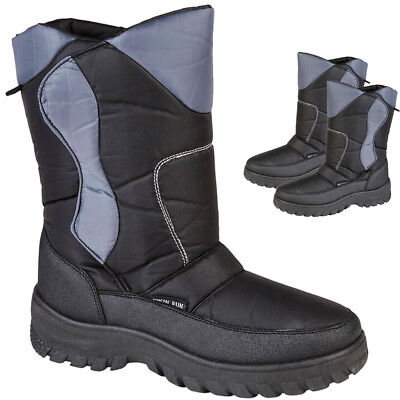 NEW MENS SNOW SKI BOOTS RUBBER WELLINGTONS WINTER BOOTS UK SIZE 7 8 9 10 11 12