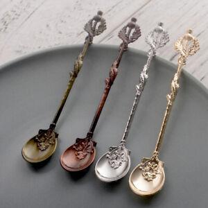 Am-Flower-Leaf-Carving-Kitchen-Tea-Coffee-Dessert-Spoon-Table-Decor-Cutlery-NEW