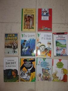 lot-livres-jeunesse-DAUDET-LEROUX-CERVANTES-TWAIN-WEULERSSE-BICHONNIER-LONDON
