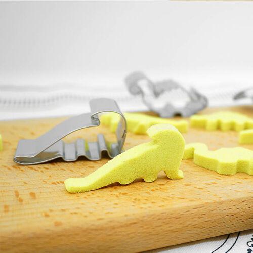 6X Edelstahl Dinosaurier Form Gebäck Keks Ausstecher Kuchen Dekor Fo C/_W
