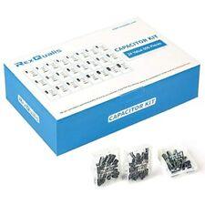 Rexqualis 24value 696pcs Electrolytic Capacitor Assortment Kit Range 10v 16v 25v