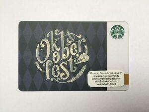 Starbucks Card Oktoberfest 2015 Limited New Munich Germany Gift Card Gift Ebay