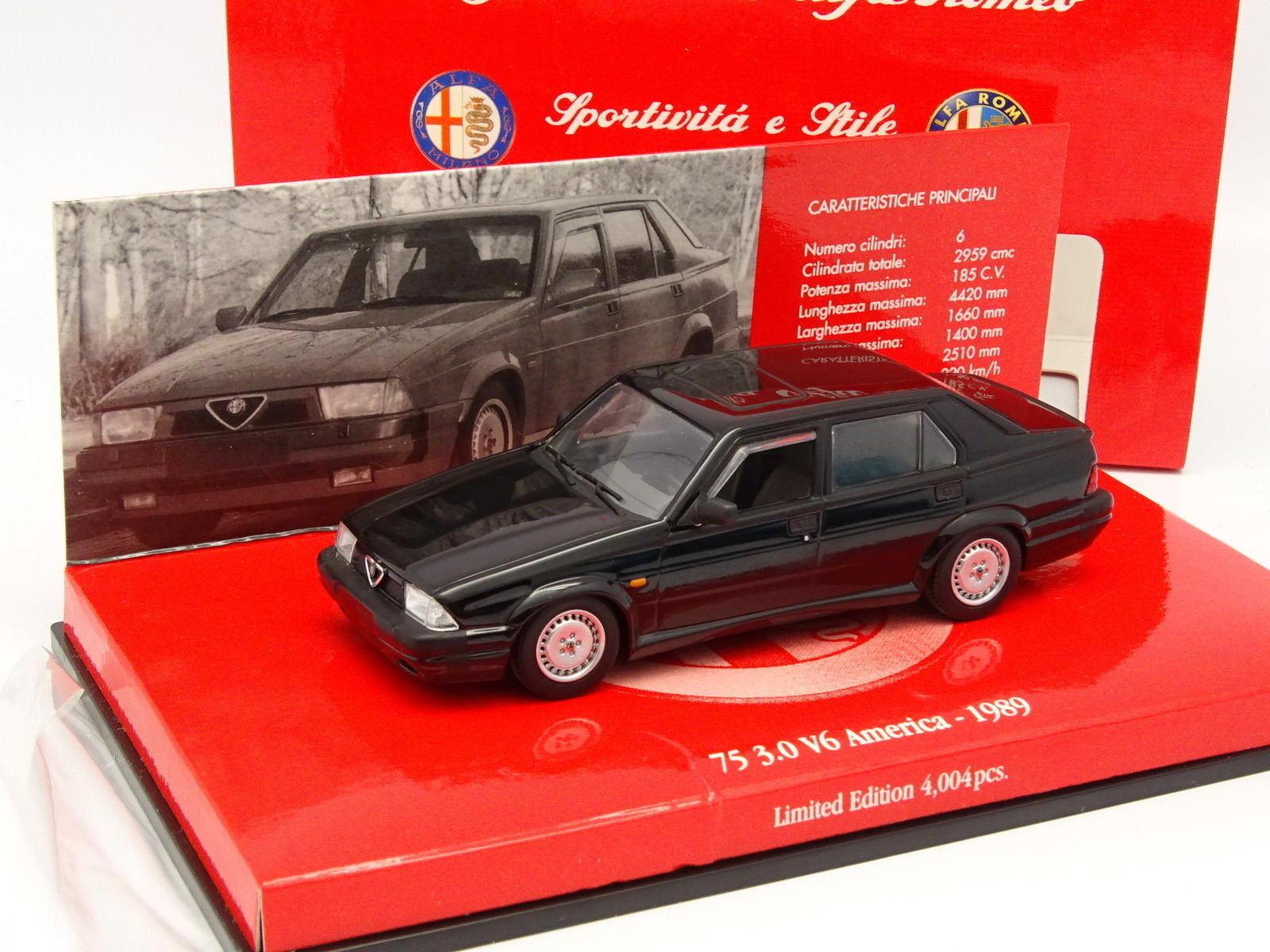 Minichamps 1   43 - alfa romeo 75 3.0 v6 aber 1989 schwarz