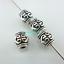 24//72pcs Tibetan Silver trou 2 mm Tube cœur looae Spacer Beads 6*6.5mm
