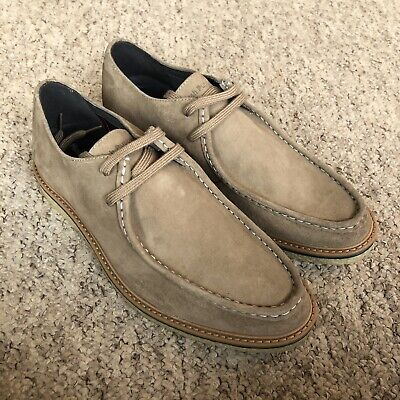 Hush Puppies Sway Navy Nubuck Leather Casual Slip On Shoes