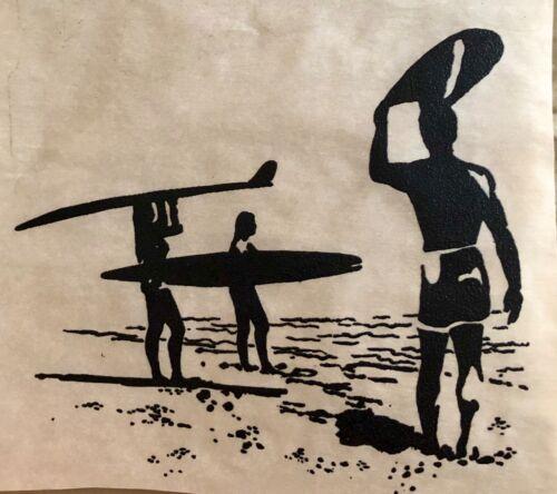 Original Vintage Beach Surf Fantasy Iron On Transfer Surfer Surfing