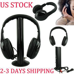 Hi-Fi-5IN1-Wireless-Headphone-Casque-Audio-Sans-Fil-Ecouteur-Radio-FM-TV-PC-MP3
