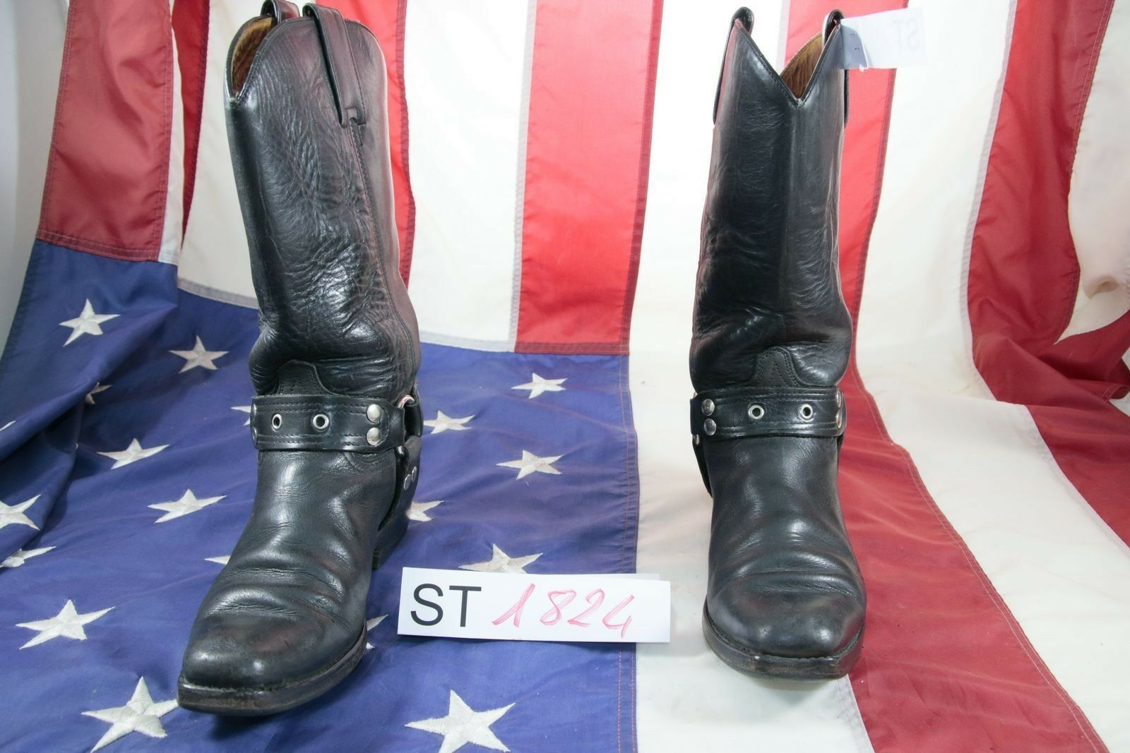 Stivali Gaucho by Sendra(Cod. ST1824) USATO N.6 women Pelle Neri Cowboy Texani