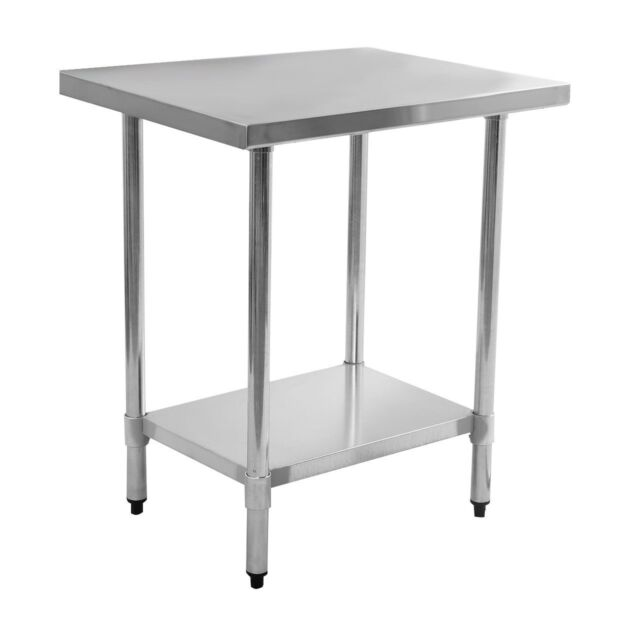 small stainless steel table top tall kitchen island