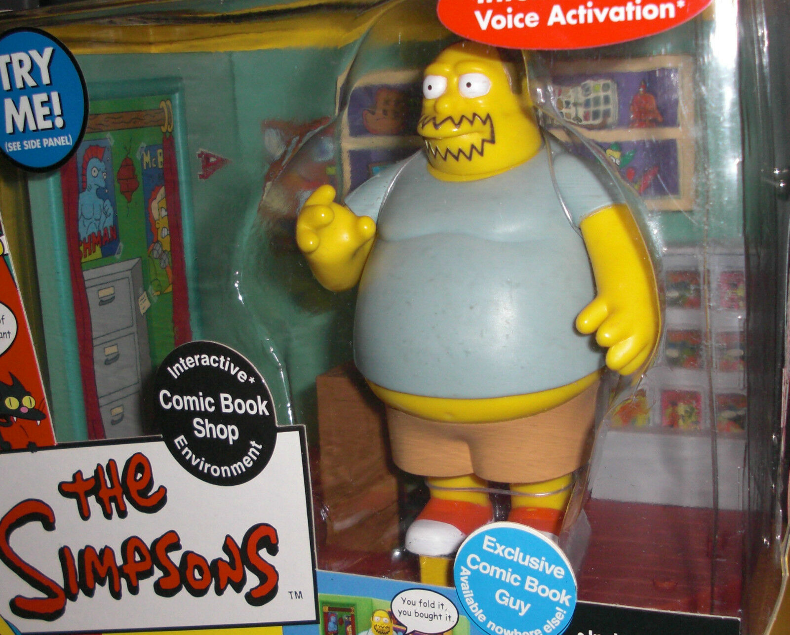 The Simpsons Interactive Exclusive Exclusive Exclusive Comic Book Guy Comic Book Shop NIB 03ed74