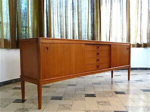 1960s Danish Credenza : Danish mid century modern teak sideboard by h w klein for bramin