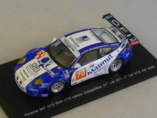 de moda Spark S3422 -    PORSCHE 997 GT3 RSR n°70 Larbre 21ème le mans 2011  1 43  ventas en linea