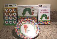 Eric Carle The Very Hungry Caterpillar Birthday Invitations Napkins Plates - Set