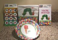Eric Carle The Very Hungry Caterpillar Birthday Invitations Napkins Plates - Set