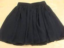 Black Chiffon Layered Short Skirt by American Apparel Size M/L