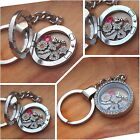 Personalised Memorry Locket Floating keyring - Mum nana nanny-
