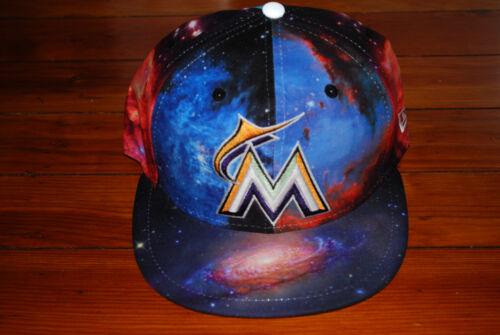 7 1//8, 7 1//2 NEW Miami Marlins Galaxy New Era Fitted Baseball Hat