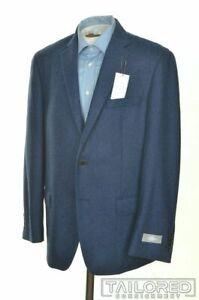 NWT - HART SCHAFFNER MARX Blue 100% Wool Mens Blazer Sport Coat Jacket - 42 R