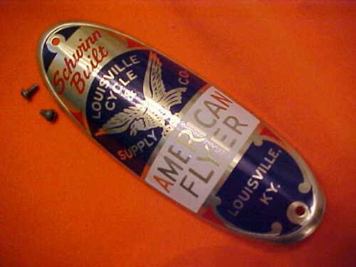Schwinn American Flyer Phantom Panther Bicycle Head Badge Name Plate Emblem