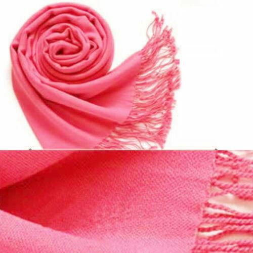 Classic Wool Women SILK PASHMINA NEW SHAWL Scarf WRAP Solid Soft Stole Cashmere